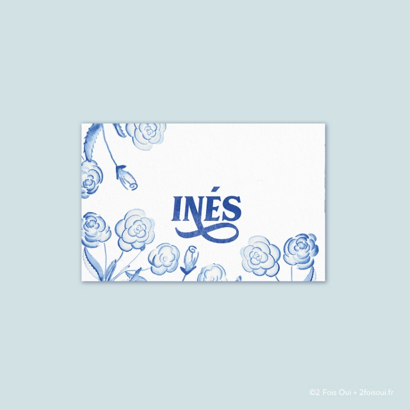 marque-place roses (lot de 10 cartes)