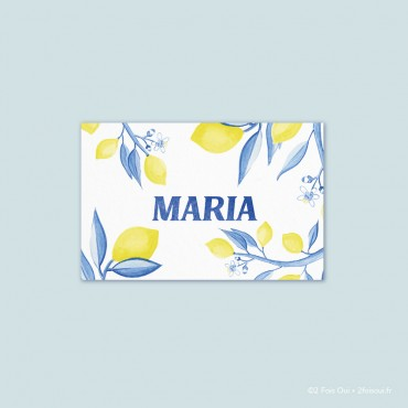 marque-place citrons (lot de 10 cartes)