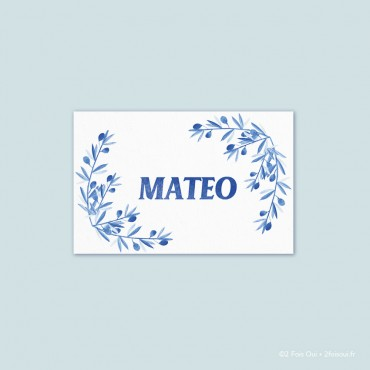 marque-place olivier (lot de 10 cartes)