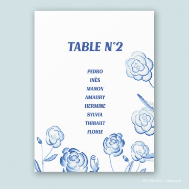 Plan de table roses