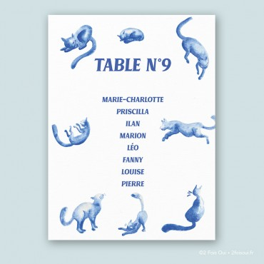 Plan de table chats