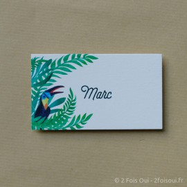 Marque-place toucan (lot de 10 cartes)