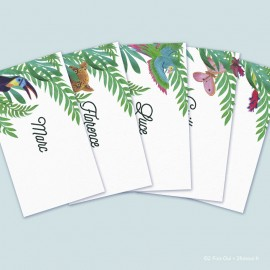 Marque-place en lot (lot de 10 cartes)