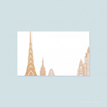 Marque-place building (lot de 10 cartes)