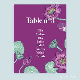 Plan de table lotus
