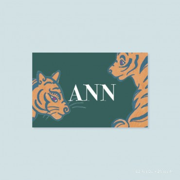 marque-place tigres (lot de 10 cartes)