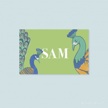 marque-place paons (lot de 10 cartes)